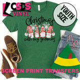 Screen Print Transfer - Christmas with my Gnomies YOUTH - Full Color