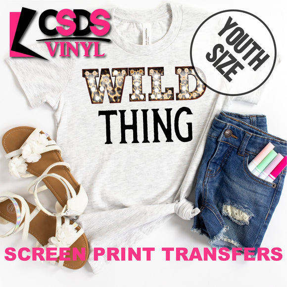 Screen Print Transfer - Wild Thing Leopard YOUTH - Full Color