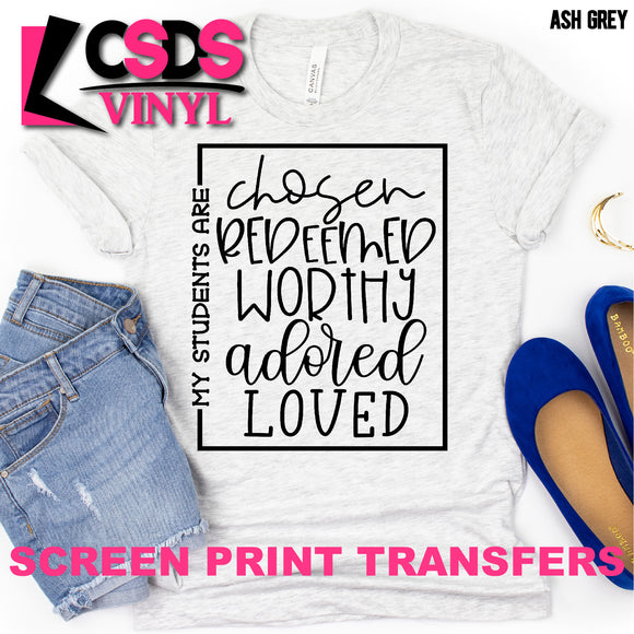 Screen Print Transfer - My Students Are... - Black