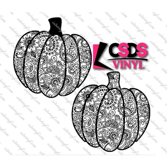 SVG0076 - Two Pumpkins - SVG Cut File