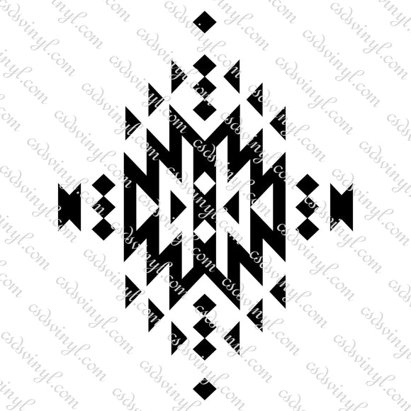 SVG0114 - Aztec Geometrical Design - SVG Cut File