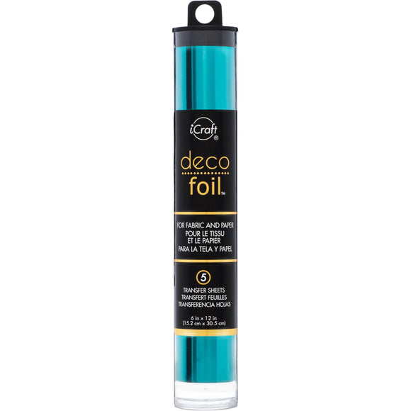 iCraft Deco Foil 5 Sheet Tube - Teal