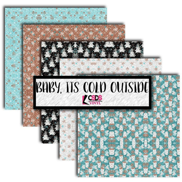 Ready to Ship Printed Vinyl - Printed Multipack MPK052 - Baby Its Cold Outside