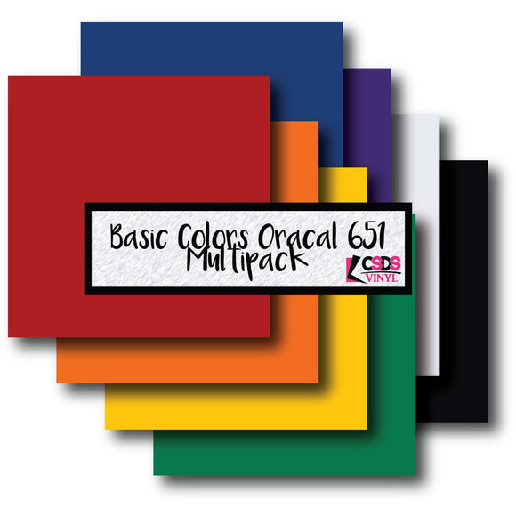 Oracal 651 Basic Colors Multipack