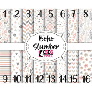 Custom Printed Vinyl Collection - Boho Slumber