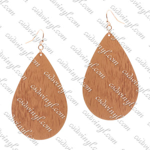 Monogram Ready Earrings - Brushed Metal Teardrop - Rose Gold