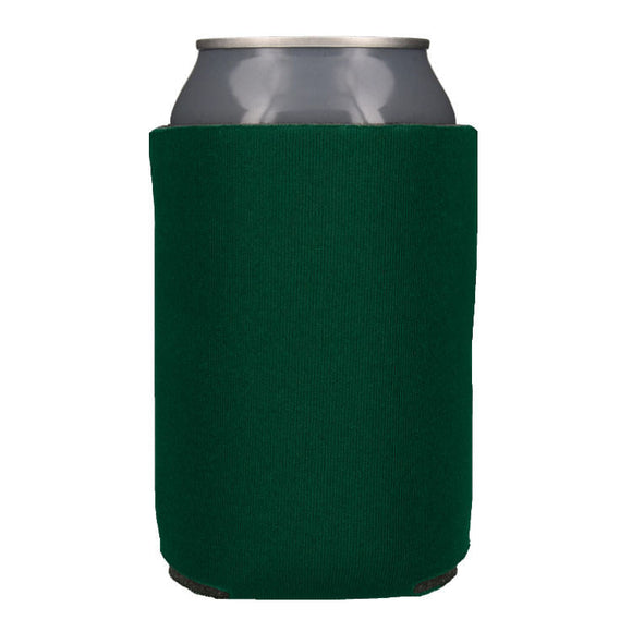 Blank Collapsible Beverage Coolers- Forest Green