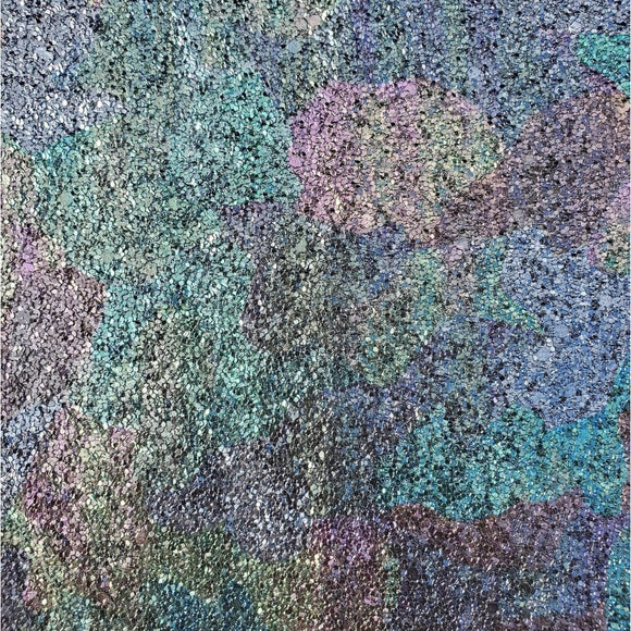 Faux Leather Glitter Canvas Sheet - Oilslick Glitter
