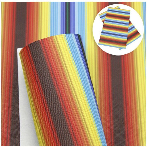 Faux Leather Canvas Sheet - Serape 3