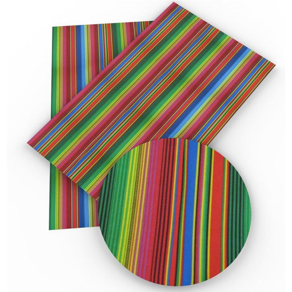 Faux Leather Canvas Sheet - Serape 2