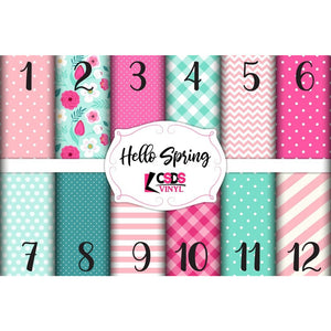 Custom Printed Vinyl Collection - Hello Spring