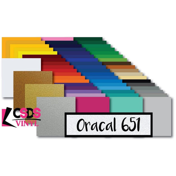 Oracal 651 All Colors Permanent Adhesive Vinyl Multipack