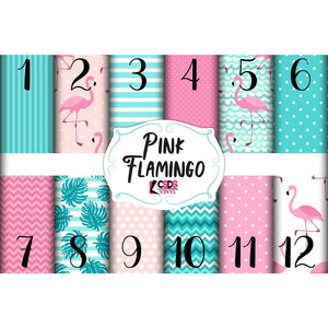 Custom Printed Vinyl Collection - Pink Flamingo