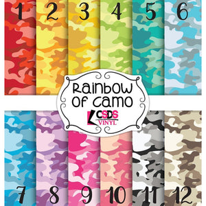Custom Printed Vinyl Collection - Rainbow of Camo