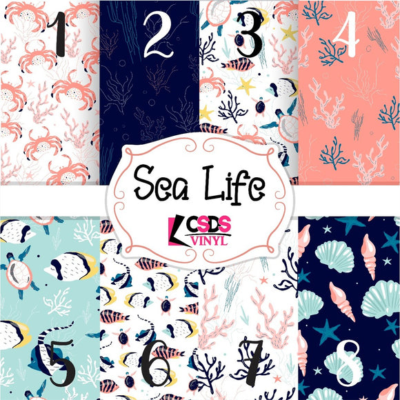 Custom Printed Vinyl Collection - Sea Life