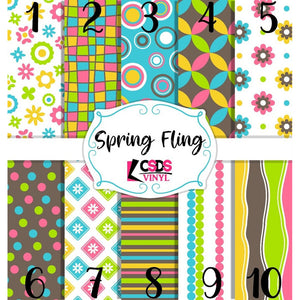 Custom Printed Vinyl Collection - Spring Fling