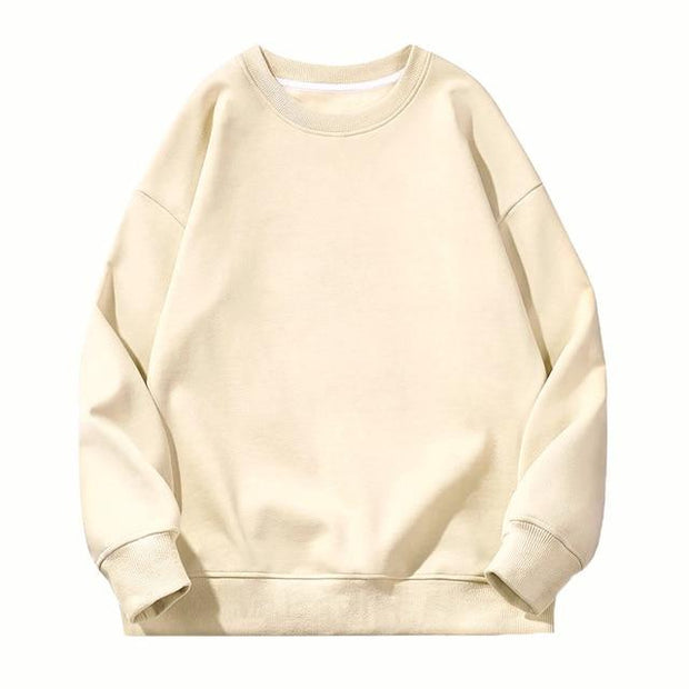 Basics Beige / S Classic Crewneck Sweatshirt shop high quality cheap leggings