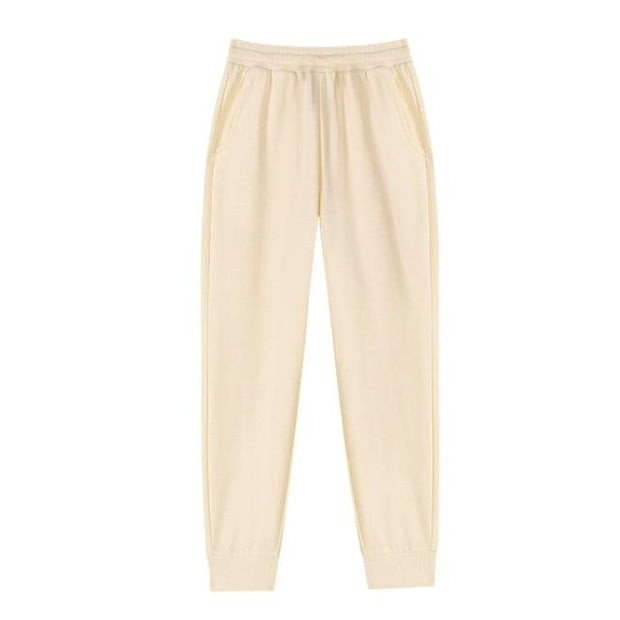 Basics Beige / S Classic Pleated Sweatpants shop high quality cheap leggings