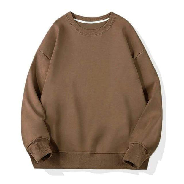 Basics Brown / S Classic Crewneck Sweatshirt shop high quality cheap leggings