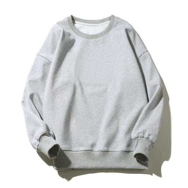 Basics Gray / S Classic Crewneck Sweatshirt shop high quality cheap leggings