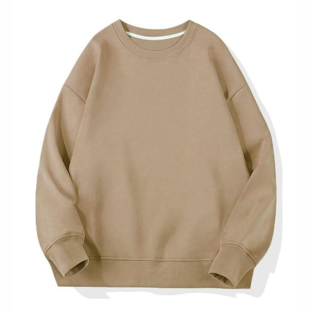 Basics Khaki / S Classic Crewneck Sweatshirt shop high quality cheap leggings
