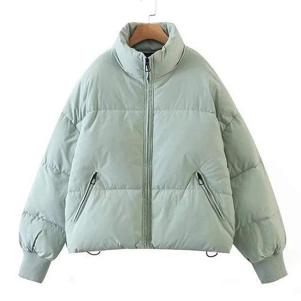 Basics Light Green / XS Padded Puffer Coat shop high quality cheap leggings