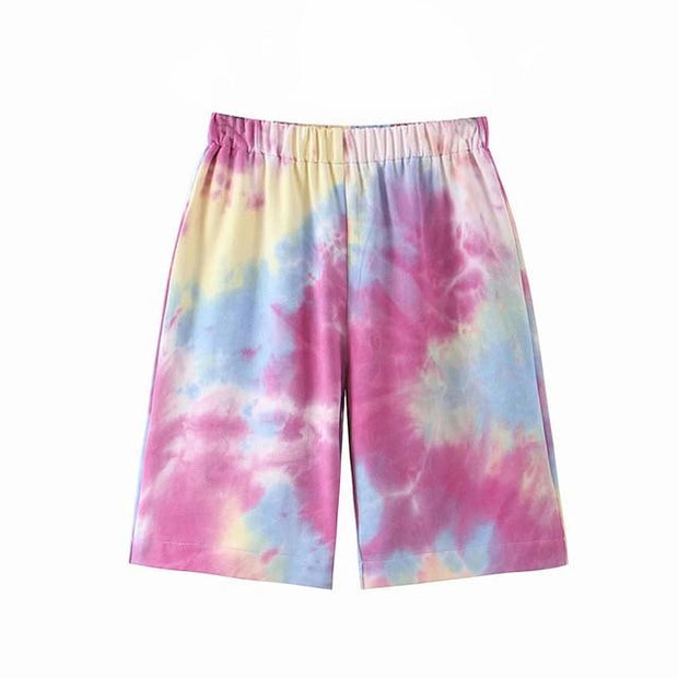 Basics Multi / S Tie Dye Shorts shop high quality cheap leggings