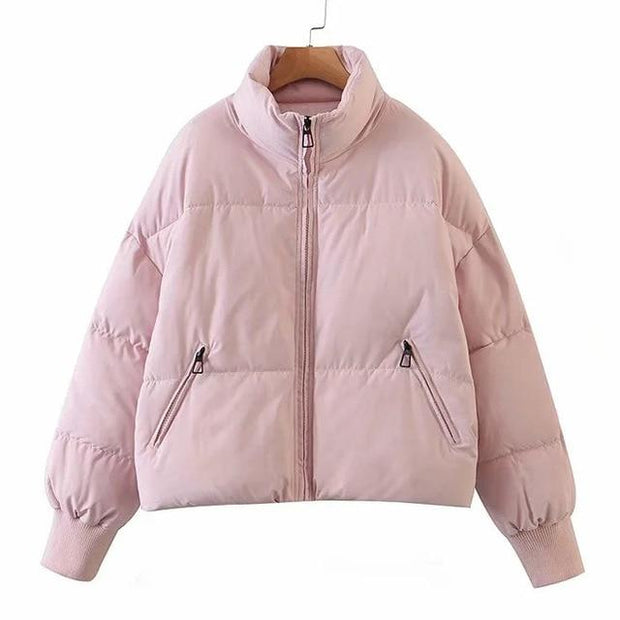 Basics Pink / XS Padded Puffer Coat shop high quality cheap leggings