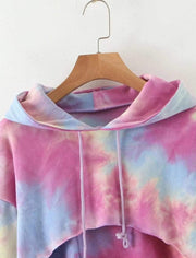 Basics Tie Dye Crop Hoodie shop high quality cheap leggings