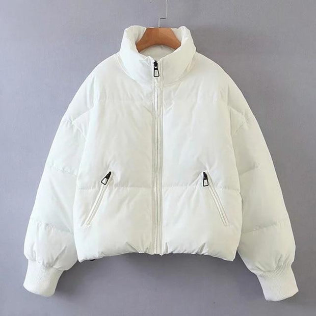 Basics White / XS Padded Puffer Coat shop high quality cheap leggings