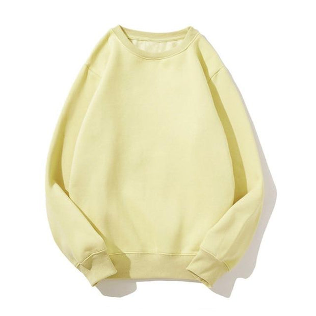 Basics Yellow / S Pastel Crewneck Sweatshirt shop high quality cheap leggings