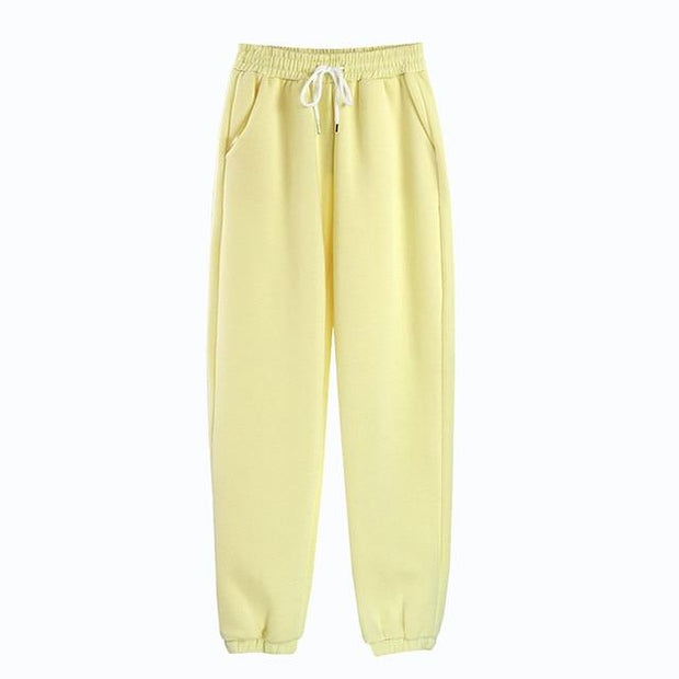 Basics Yellow / S Pastel Sweatpants shop high quality cheap leggings