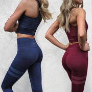 2 Colors Striped Set - Moderne Women - FITNESS WEAR Best Deals Cheap High Quality Leggings Tops Fitness Gymwear Makeup Cosmetics At Home Workout Gear Paint By Numbers