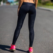 Casual Black Heart Leggings - Moderne Women - FITNESS WEAR Best Deals Cheap High Quality Leggings Tops Fitness Gymwear Makeup Cosmetics At Home Workout Gear Paint By Numbers
