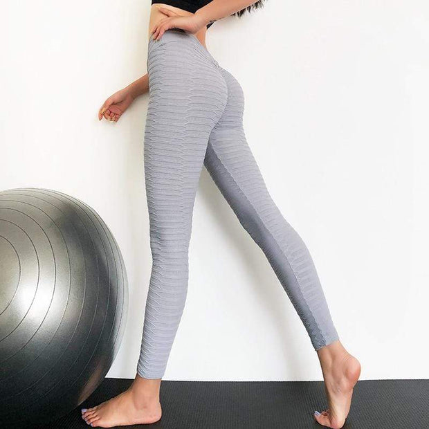 FITNESS WEAR Gray / XS Seamless Push Up Elastic Leggings shop high quality cheap leggings