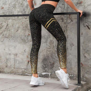 High Waist Speckle Leggings - Moderne Women - FITNESS WEAR Best Deals Cheap High Quality Leggings Tops Fitness Gymwear Makeup Cosmetics At Home Workout Gear Paint By Numbers