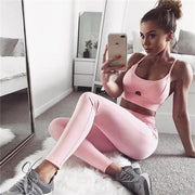 Just Pink Set - Moderne Women - FITNESS WEAR Best Deals Cheap High Quality Leggings Tops Fitness Gymwear Makeup Cosmetics At Home Workout Gear Paint By Numbers