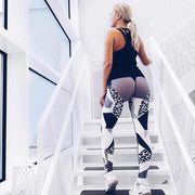 Leopard Elastic Leggings - Moderne Women - FITNESS WEAR Best Deals Cheap High Quality Leggings Tops Fitness Gymwear Makeup Cosmetics At Home Workout Gear Paint By Numbers