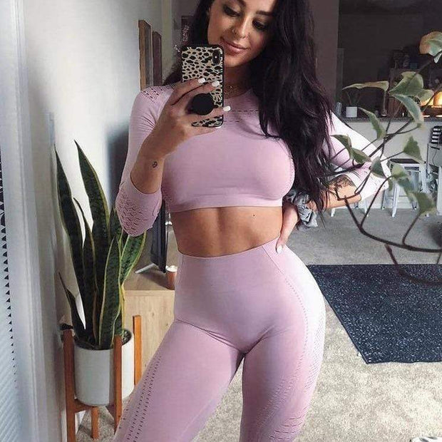 Seamless Love Set - Moderne Women - FITNESS WEAR Best Deals Cheap High Quality Leggings Tops Fitness Gymwear Makeup Cosmetics At Home Workout Gear Paint By Numbers
