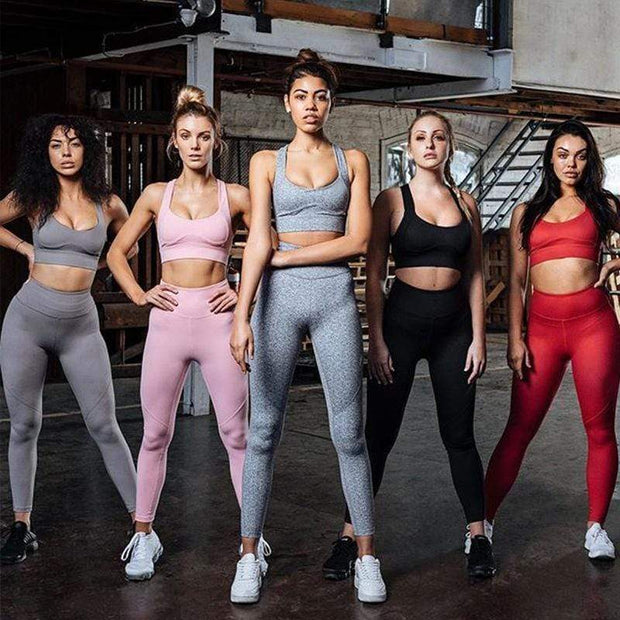 Solid Casual Seamless Set - Moderne Women - FITNESS WEAR Best Deals Cheap High Quality Leggings Tops Fitness Gymwear Makeup Cosmetics At Home Workout Gear Paint By Numbers