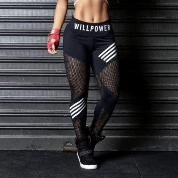 Will Power Mesh Leggings - Moderne Women - FITNESS WEAR Best Deals Cheap High Quality Leggings Tops Fitness Gymwear Makeup Cosmetics At Home Workout Gear Paint By Numbers