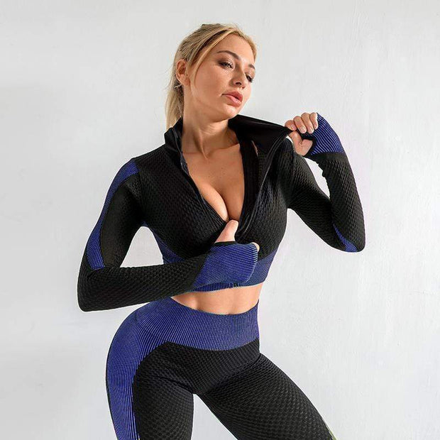 Workout Seamless Long Set - Moderne Women - FITNESS WEAR Best Deals Cheap High Quality Leggings Tops Fitness Gymwear Makeup Cosmetics At Home Workout Gear Paint By Numbers