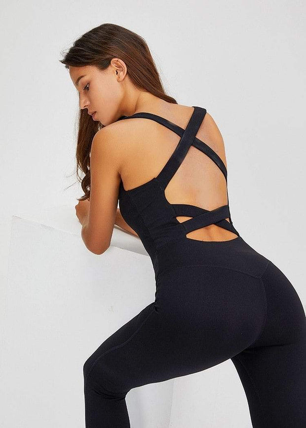 Jumpsuit S / Black Jasmine Yoga Jumpsuit shop high quality cheap leggings