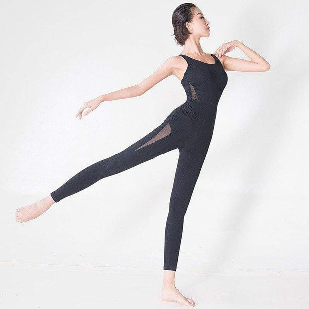 Jumpsuit S / Black Seamless Mesh Jumpsuit shop high quality cheap leggings