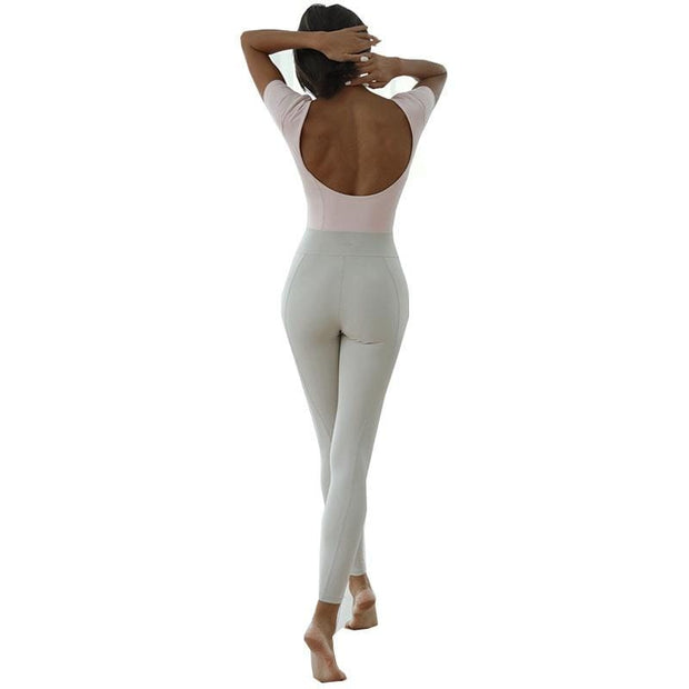 Jumpsuit S / Pink/White Luxe Two Tone Jumpsuit shop high quality cheap leggings