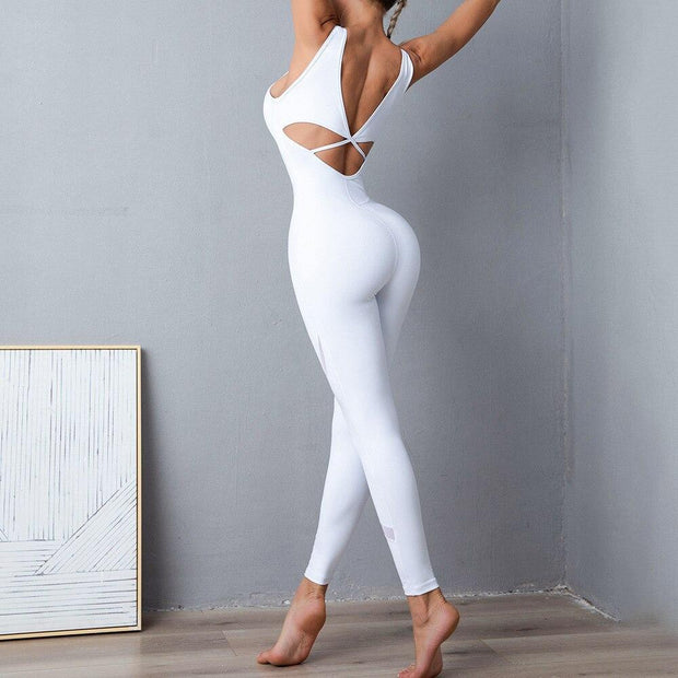 Jumpsuit S / White Seamless Yoga Jumpsuit shop high quality cheap leggings