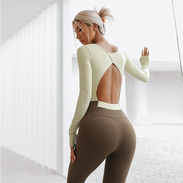 Jumpsuit S / Yellow/Green Luxe Full Sleeves Two Tone Jumpsuit shop high quality cheap leggings