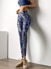 Leggings High Waist Metallic Series Leggings - Navy shop high quality cheap leggings