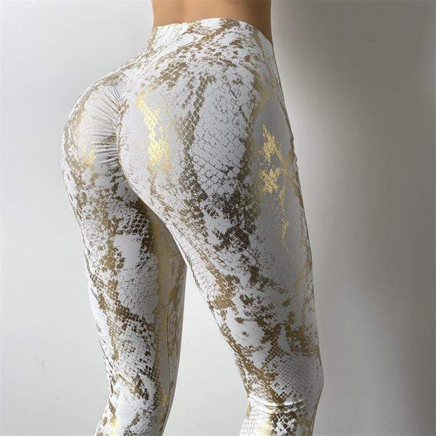 Leggings S / Ivory High Waist Metallic Series Leggings shop high quality cheap leggings