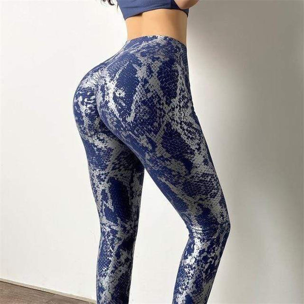 Leggings S / Navy High Waist Metallic Series Leggings - Navy shop high quality cheap leggings